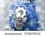 integration industry 4.0 iot... | Shutterstock . vector #575079913