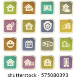 real estate icons set for web... | Shutterstock .eps vector #575080393