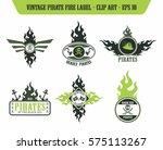 pirate icon label sticker | Shutterstock . vector #575113267