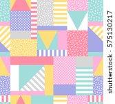 pastel geometric seamless... | Shutterstock .eps vector #575130217