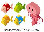 3d design for jellyfish and... | Shutterstock .eps vector #575130757