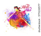 holi background with hindi... | Shutterstock .eps vector #575133577