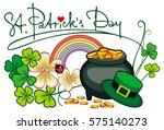 holiday label with shamrock ... | Shutterstock .eps vector #575140273