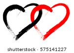 vector double heart shape with... | Shutterstock .eps vector #575141227