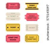 ticket admit one set. raster... | Shutterstock . vector #575145097