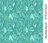 seamless pattern with hand... | Shutterstock .eps vector #575157163