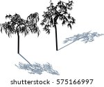 illustration with trees... | Shutterstock .eps vector #575166997