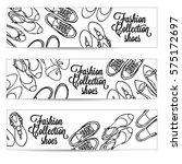 vector hand drawn horizontal...   Shutterstock .eps vector #575172697