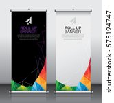 roll up brochure flyer banner... | Shutterstock .eps vector #575194747