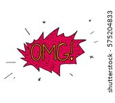 comic colour speech bubble with ... | Shutterstock .eps vector #575204833