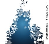 christmas border  snowflake... | Shutterstock . vector #575217697