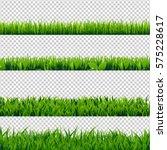 grass border set | Shutterstock . vector #575228617
