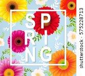 spring flower spring banner  | Shutterstock . vector #575228713