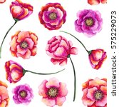 seamless floral pattern of... | Shutterstock . vector #575229073