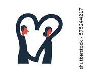romantic vector creative... | Shutterstock .eps vector #575244217