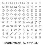 set of 100 isolated minimal... | Shutterstock .eps vector #575244337