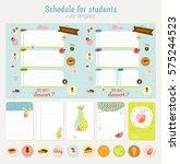 cute weekly planner template..... | Shutterstock .eps vector #575244523