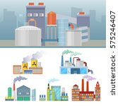 industrial factory buildings... | Shutterstock .eps vector #575246407