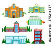 architectural school and... | Shutterstock .eps vector #575246557