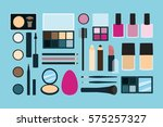 makeup kit collection  | Shutterstock .eps vector #575257327