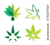 cannabis sets of logo green... | Shutterstock .eps vector #575257567