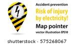 map pointer. threat of... | Shutterstock .eps vector #575268067