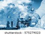 industry 4.0 concept  smart... | Shutterstock . vector #575279023