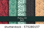 vector set of various seamless... | Shutterstock .eps vector #575280157