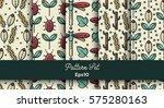 vector set of various seamless... | Shutterstock .eps vector #575280163