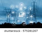 industry 4.0 concept  smart... | Shutterstock . vector #575281207