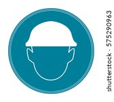 safety helmet sign  icon or... | Shutterstock .eps vector #575290963