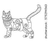 steampunk style cat. mechanical ...   Shutterstock .eps vector #575294563