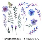hand drawing set of floral... | Shutterstock . vector #575308477