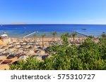 beach in egypt  sharm el sheikh | Shutterstock . vector #575310727