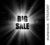 sale banner. black and white... | Shutterstock .eps vector #575319247