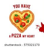 vector fun valentine s day card ... | Shutterstock .eps vector #575321173