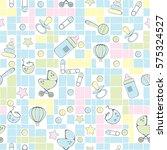 seamless pattern for new born...   Shutterstock .eps vector #575324527