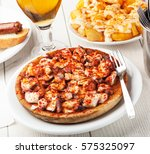 typical dish from the spanish... | Shutterstock . vector #575325097