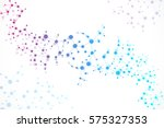 structure molecule and... | Shutterstock . vector #575327353