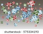 vector illustration of falling... | Shutterstock .eps vector #575334193