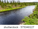 Small photo of Forest river top view landscape