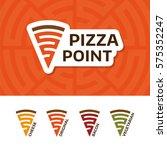 pizzeria point logo design... | Shutterstock .eps vector #575352247