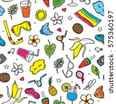 colorful summer pattern  hand... | Shutterstock .eps vector #575360197