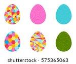 beautiful easter egg seamless... | Shutterstock .eps vector #575365063