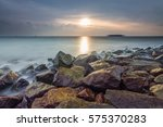 beautiful view of beach or sea... | Shutterstock . vector #575370283