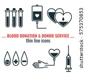 blood donation and donor... | Shutterstock .eps vector #575370853