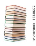 stack of books isolated on a... | Shutterstock . vector #57538372