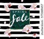 """spring sale"" hand written... | Shutterstock .eps vector #575389657"