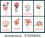 decorative invitation cards... | Shutterstock .eps vector #575390053