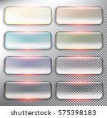 abstract vector web buttons set ... | Shutterstock .eps vector #575398183